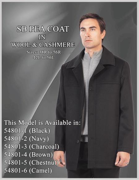 Car Coat Wool/Cashmere Black