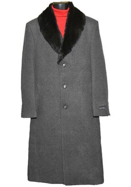 Charcoal Grey Big And Tall Trench Coat Raincoats Overcoat / Topcoat