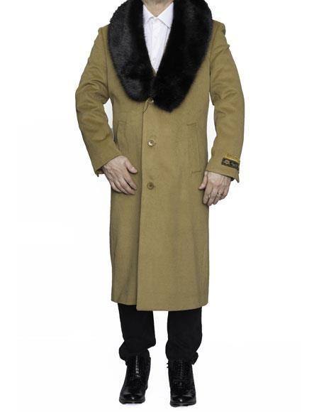 Mens Camel Big And Tall Trench Coat Overcoat / Topcoat
