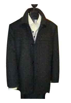 """Mantoni """"SB Pea Coat"""" in Wool Black for mens - Cashmere Topcoat - Mens Cashmere Overcoat - Cashmere Coat"""