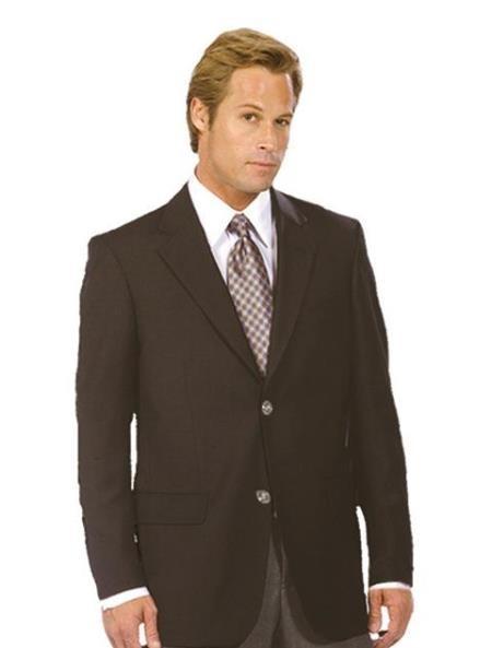 Mens Two Button Wool Blazer Balck Jacket Sport Coat