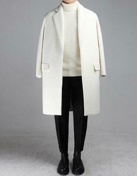 Mid length mens coat
