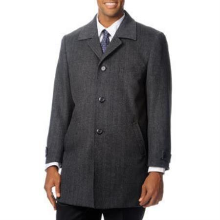 Herringbone Dress Coat 'Rodeo' Grey Tweed Cashmere Blend Top Coat