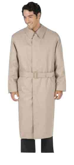 Mens Full Belt Raglan Sleeves Tan Trench Coat