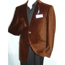 Men's Adolfo Brown Velvet  Dancing Jacket Formal