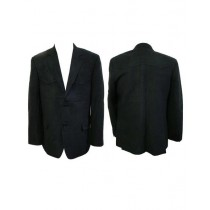 Mens Notch Lapel Single Breasted Western Blazer Black