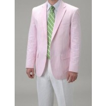 Summer Light Wright Sport Coat Pink ~ Sear Sucker Blazer