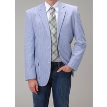 Summer Light Wright Sport Coat Blue Seersucker ~ Sear Blazer
