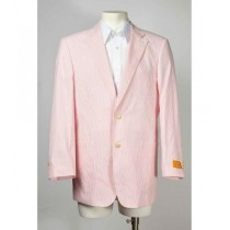 Mens Seersucker ~ Sear Sucker Two Button Pink Blazer