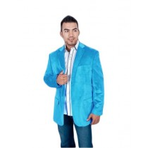 Mens Sport Jacket Aqua Turquoise Color ~ Light Blue Stage Party