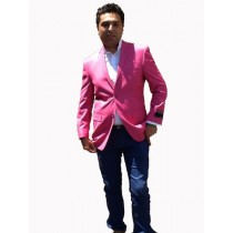 Mens Sport Coat / Dinner Jacket Cheap Fashion Hot Pink Fuchsia