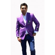 Mens 2 Button Sport Coat / Dinner Jacket Cheap Unique Purple