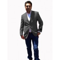 Mens Sport Coat / Dinner Jacket Blazer Vented Dark-Gray
