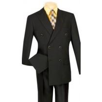 Double Breasted Black Vinci Mens Blazer Sport Coat Jacket