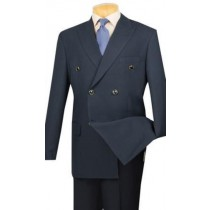 Navy Vinci Mens Blazer Fabric Double Breasted Sport Coat Jacket