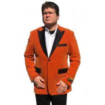 Men's Big And Tall Blazers Velvet ~ Velour Clearance Orange