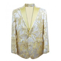 Mens Fashion Big And Tall Sport Coats Jackets Blazer Gold