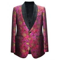 Mens Fashion Big And Tall Sport Coats Jackets Blazer Fuchsia