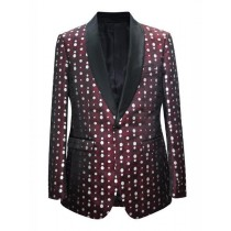 Mens Fashion Big And Tall Plus Size Sport Coats Jackets Burgundy