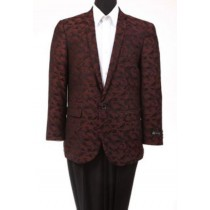 Men's Slim Fit Fashion Jacket Burgundy ~ Wine ~ Maroon Color