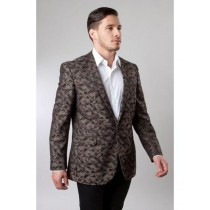 SLIM FIT SHAWL LAPEL BROWN BLAZER JACKET