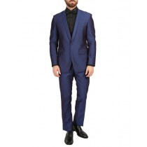 Shawl Collar Slim Fit 1 Button Mens Blazer Dinner Jacket Navy