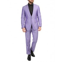 FITTED MENS BLAZER DINNER JACKET VIOLET