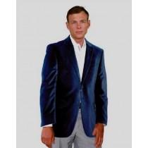 Velour Velvet Blazer two buttons Sport Jacket For Men Navy