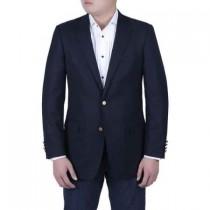 Men's Navy Blue Italian Style Blazer Brass Buttons Classic Fit