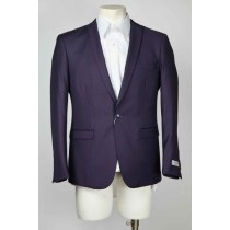 Mens Navy Peak Lapel One Button Single Breasted Blazer Vent