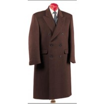 Alberto Nardoni Double Breasted Coat Wool Long Overcoat - Ankle Length Coat