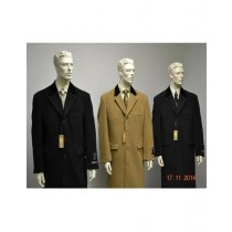 Chesterfield Wool & Cashmere Full Length Velvet Collar Black