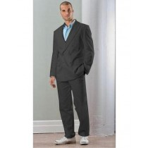 Mens Black Linen Front Closure Double Breasted Blazer Sport Coat