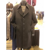 Mens Single Breasted Four Button Brown Four Button Over Coat