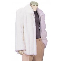 Mens Stylish Faux Fur Coat snowy winter collection White