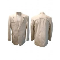 Mens Western Blazer Two Button Flap Front Pockets color Tan