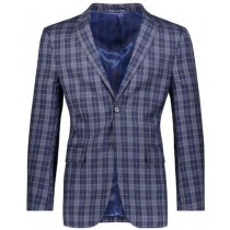 Slim Fit Navy Plaid ~ Windowpane ~ Checker Mens Blazer