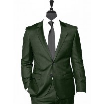 Alberto Nardoni Olive Two Button Notch Lapel Wool Suit