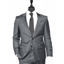 Alberto Nardoni Charcoal Two Button Wool Suit Overcoat