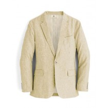 Alberto Nardoni Mens Brand Beige Two Buttons Linen