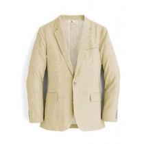 Alberto Nardoni Mens Brand Beige Two Buttons Linen Blazer