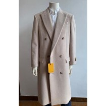 Double Breasted Overcoat - Wool Top Coat - Full Length
