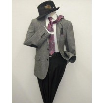 Mens Salt and Pepper Wool Blend Sportcoat Blazer Black/Gray