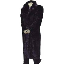 Classic Long Coat With Fur Collar Black Coat with Full sleeve