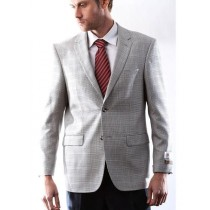 Mens Italian Silk Wool Cashmere Black/White houndstooth Sport Coat