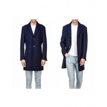 Single breasted navy coats – three quarter wool jacket