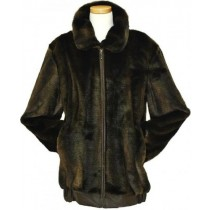 Men's Stylish Faux Fur Bomber Big And Tall Bomber Jacket Brown