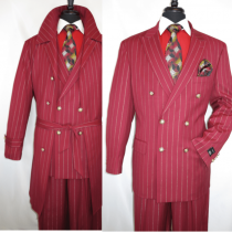 Burgundy-Trenchcoat-Burgundy Suit