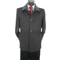 Valenti Designer Wool Single breasted  Charcoal - Cashmere Topcoat - Mens Cashmere Overcoat - Cashmere Coat