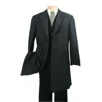 3 buttons Wool Blend Charcoal Car Coat fully lined with microfiber
